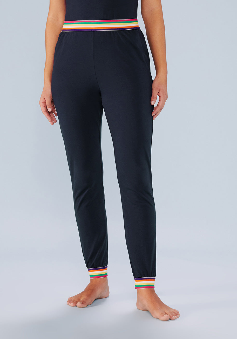 Cottagecore Clothing, Soft Aesthetic ModCloth x Collectif Lounge For Daze Joggers Pants in Navy Size Large $39.99 AT vintagedancer.com