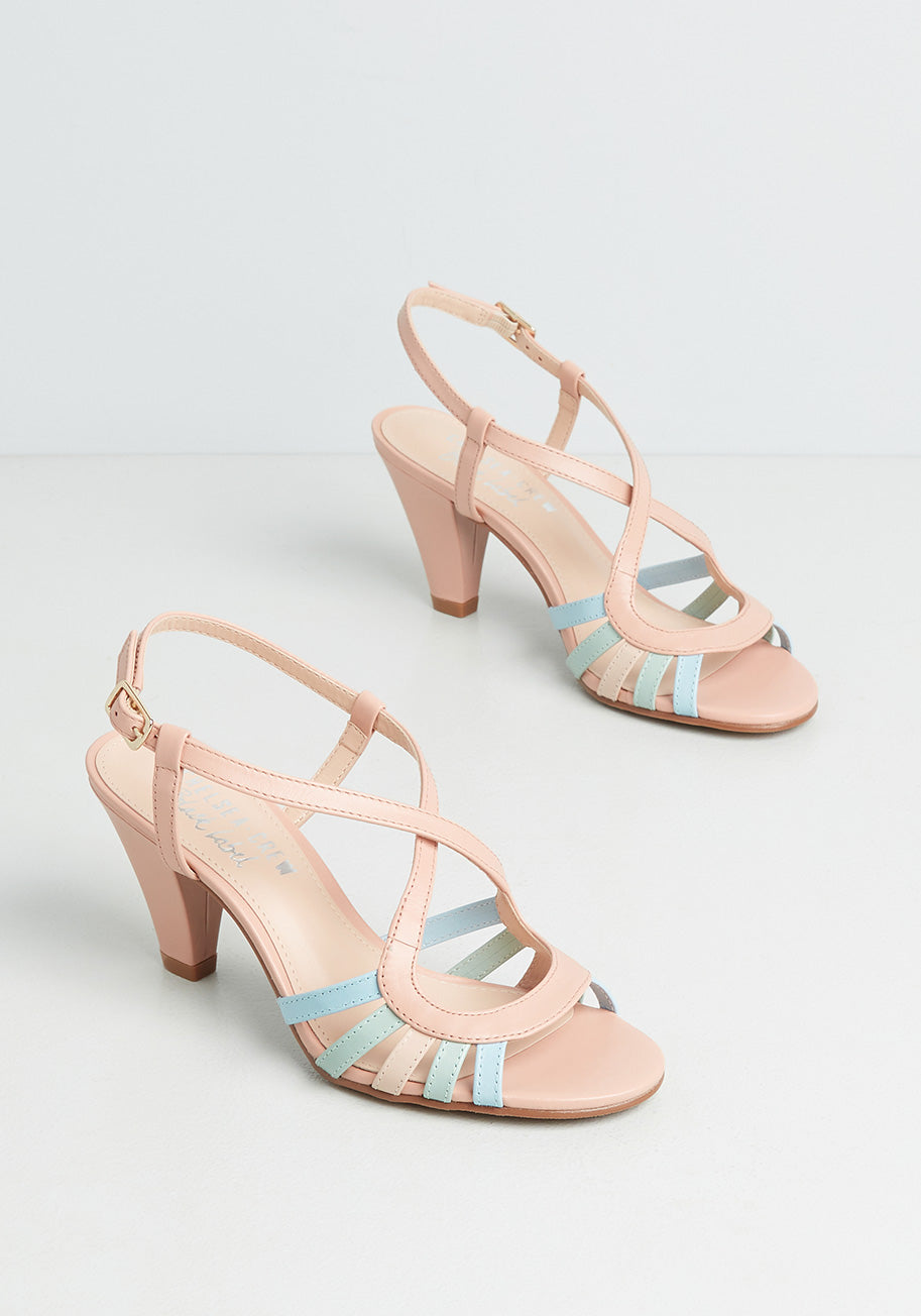 70s Outfits – 70s Style Ideas for Women Chelsea Crew Personality First Heels in Pink Size 42 $69.00 AT vintagedancer.com