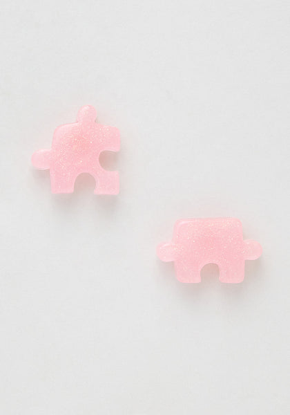 Puzzling Pieces Stud Earrings