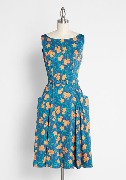 ModCloth x Collectif Marvelously Marigold A-Line Dress
