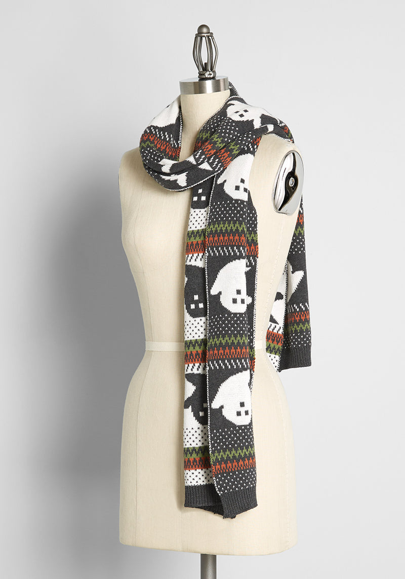 You've Been Ghosted Halloween Scarf
