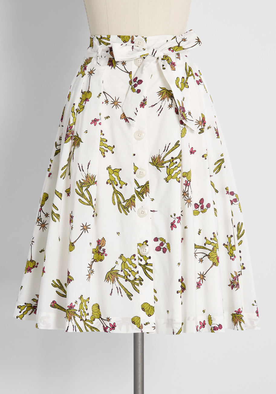 Vintage Western Wear Clothing, Outfit Ideas ModCloth My Time To Mosey Midi Skirt in White Size XL $39.99 AT vintagedancer.com
