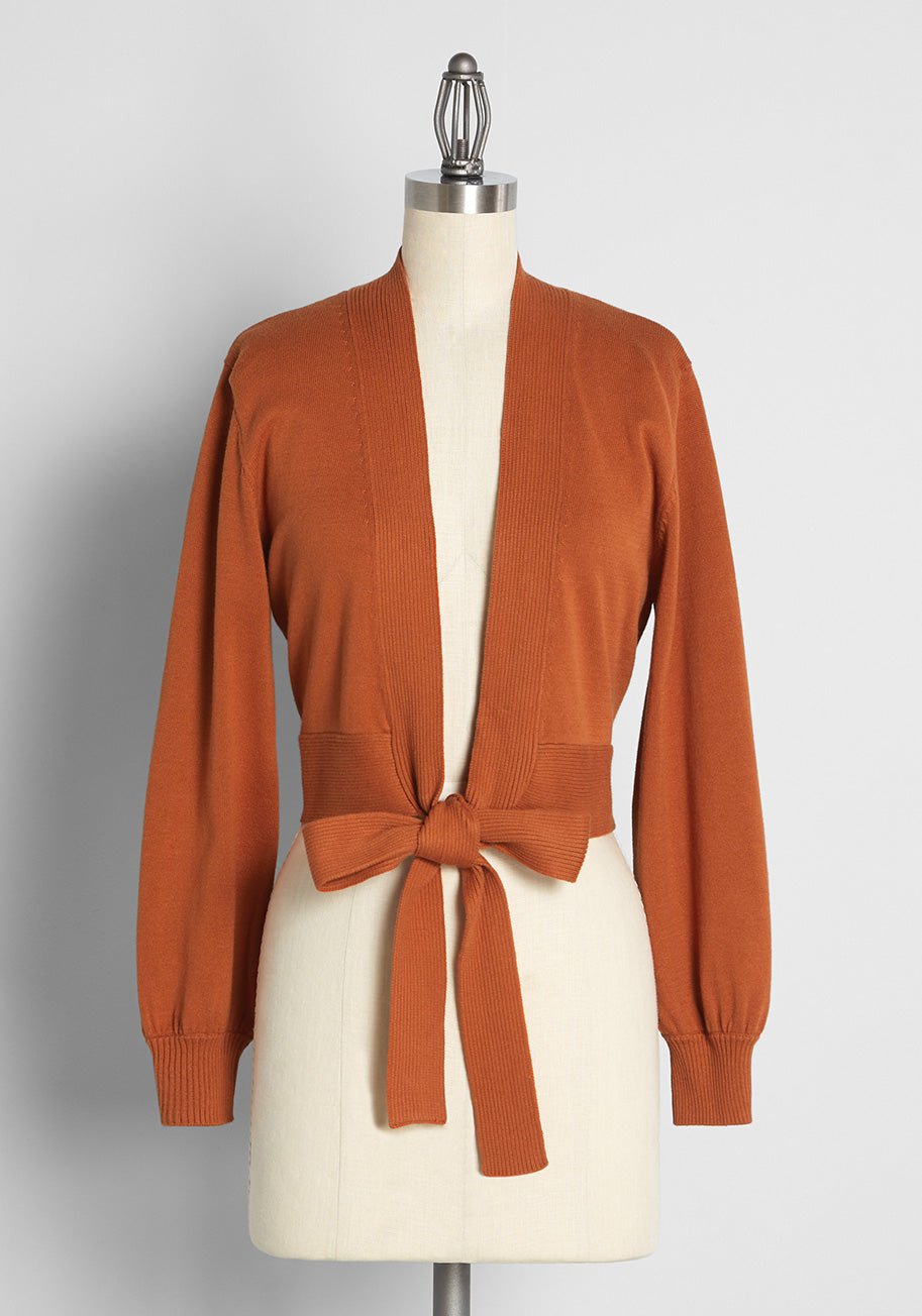 70s Outfits – 70s Style Ideas for Women Princess Highway Meet Me at the Barre Wrap Cardigan in Ginger Size 16 $65.00 AT vintagedancer.com