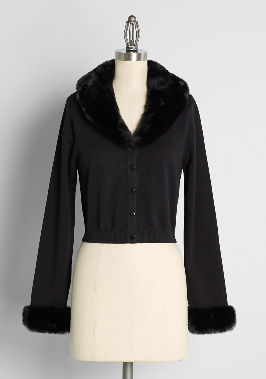 Vintage Sweaters, Retro Sweaters & Cardigan Black Friday Mentions of Marilyn Cardigan Size 24 $75.00 AT vintagedancer.com
