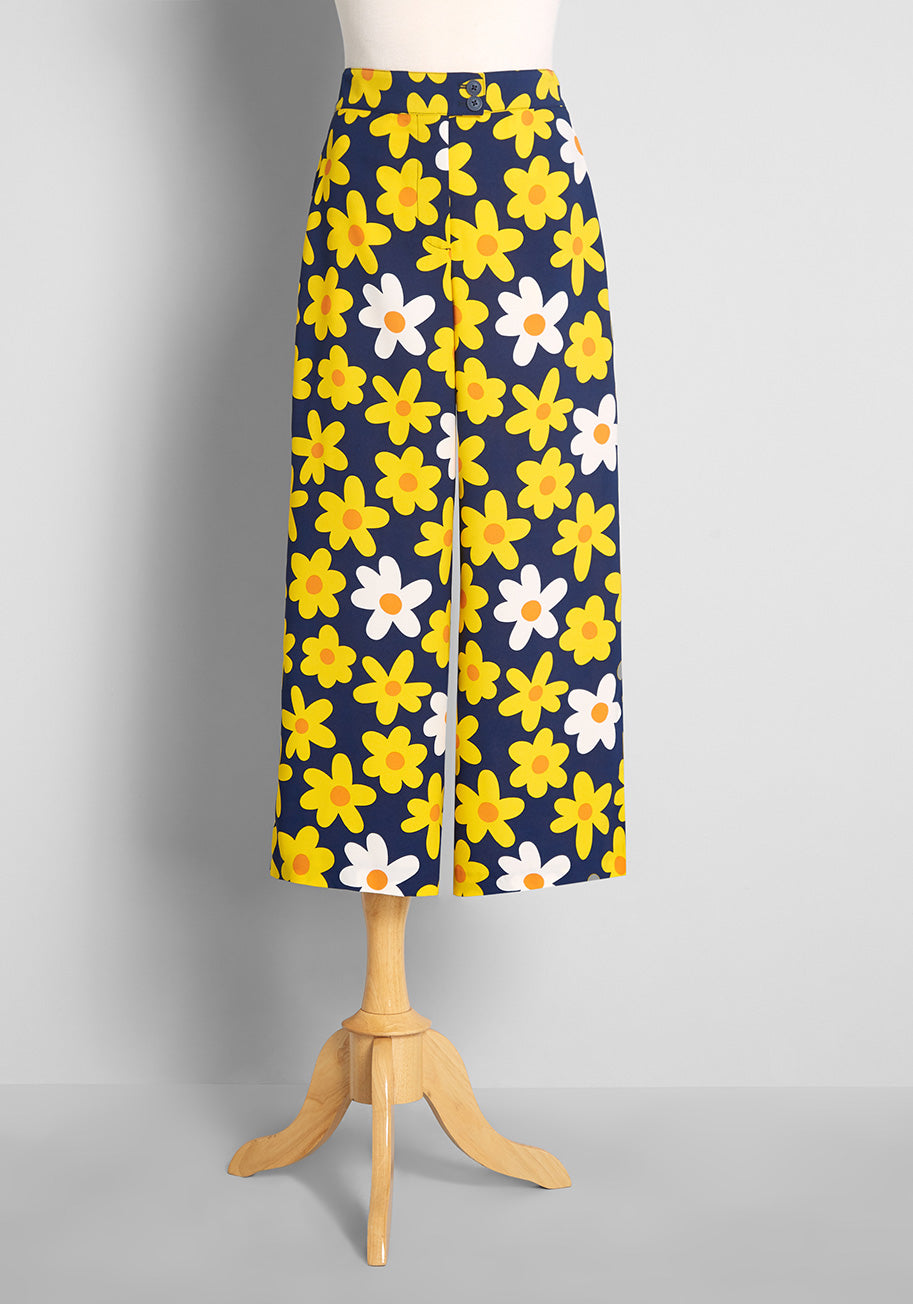 1960s Style Clothing & 60s Fashion ModCloth Classic Calls Back Wide-Leg Pants in Blue Size 4X $79.00 AT vintagedancer.com