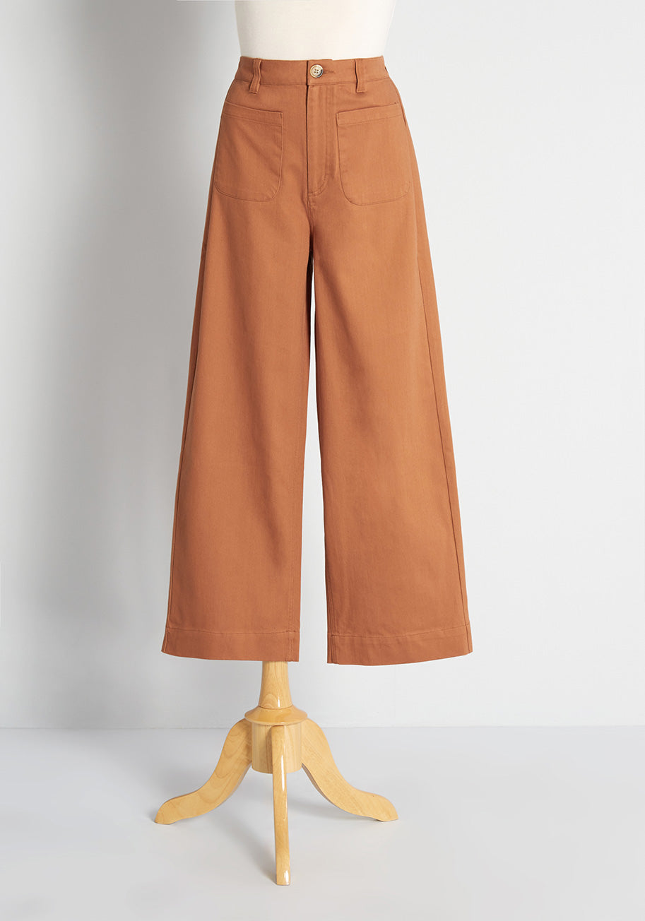 1960s Pants – Top 10 Styles for Women Princess Highway Tell Me More Wide-Leg Pants in Ginger Size 16 $75.00 AT vintagedancer.com