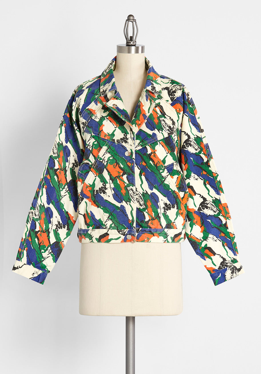80s Windbreakers, Jackets, Coats Molly Bracken The Decades are Calling Jacket Size Small $29.97 AT vintagedancer.com
