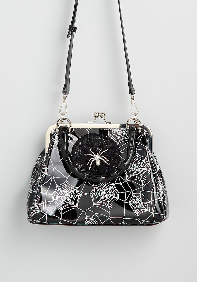 Banned Tangled Up in Chic Spider Web Handbag