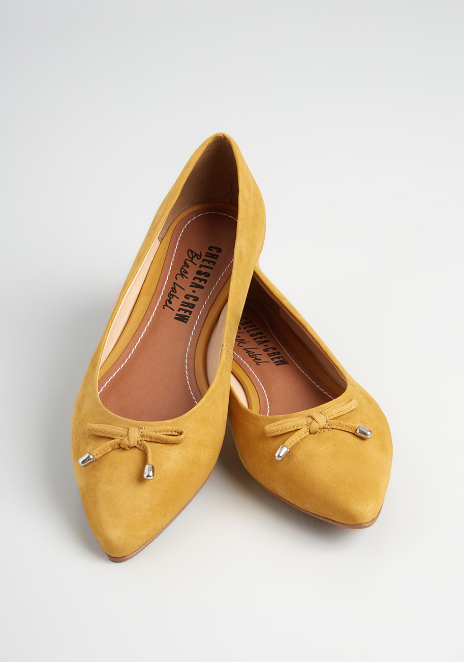 1950s Style Shoes | Heels, Flats, Boots Chelsea Crew Simply the Best Ballet Flats in Mustard Size 41 $49.99 AT vintagedancer.com