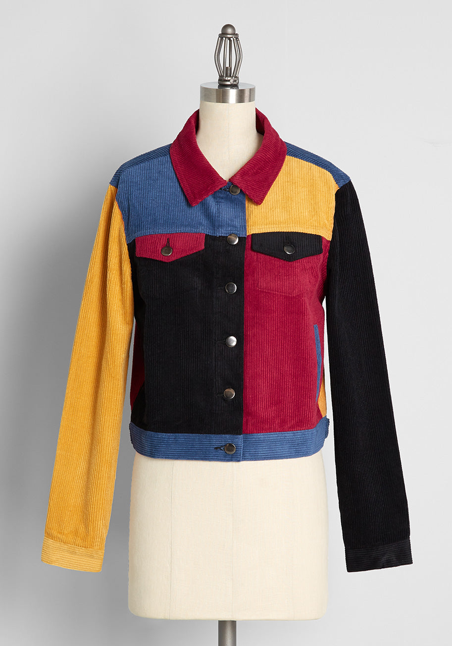 1980s Clothing, Fashion | 80s Style Clothes Dangerfield So Cool For School Cord Jacket Size 18 $79.00 AT vintagedancer.com