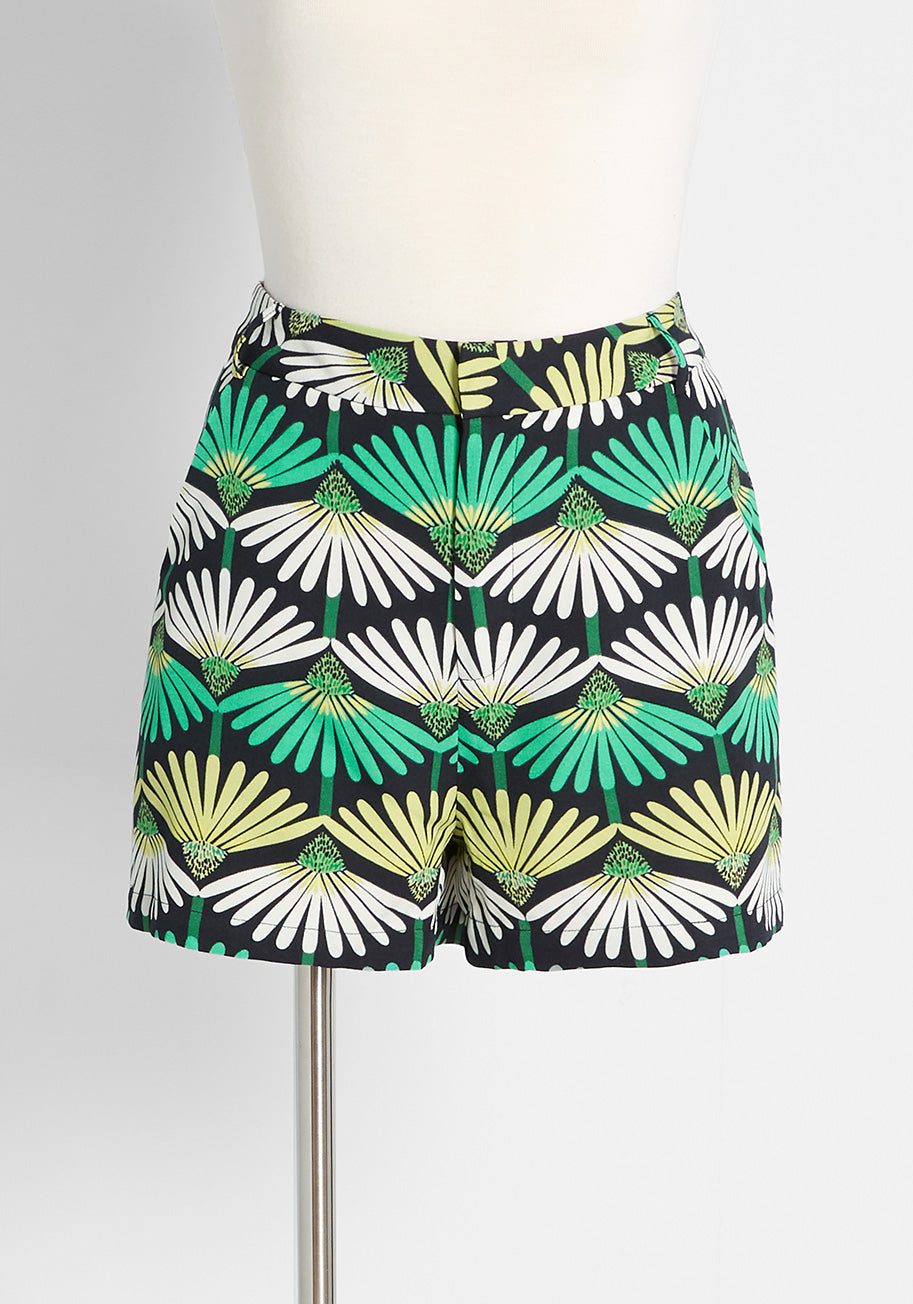 1960s Style Clothing & 60s Fashion Molly Bracken Saturday Sun Shorts Top in Emerald Size XL $59.00 AT vintagedancer.com