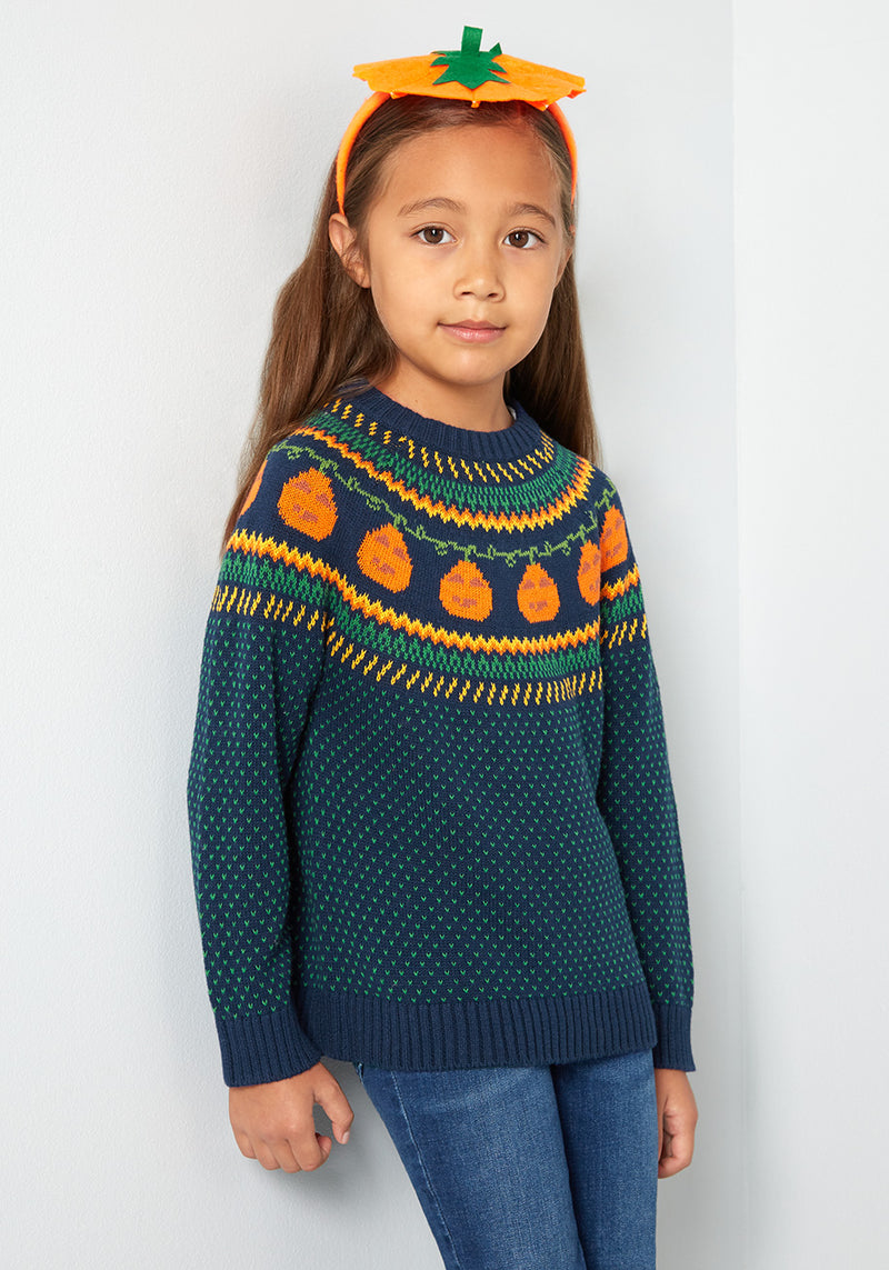 Youth Give 'Em Pumpkin To Talk About Fair Isle Sweater