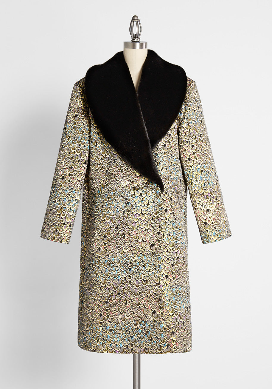1960s Style Clothing & 60s Fashion ModCloth Guided by Glistening Grace Coat Size Medium $95.99 AT vintagedancer.com
