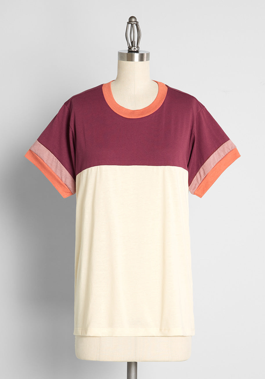 Vintage Workout Clothes – Retro Gym Clothes ModCloth x CAMP Collection Cookout Casual T-Shirt in White Size 2X $39.00 AT vintagedancer.com