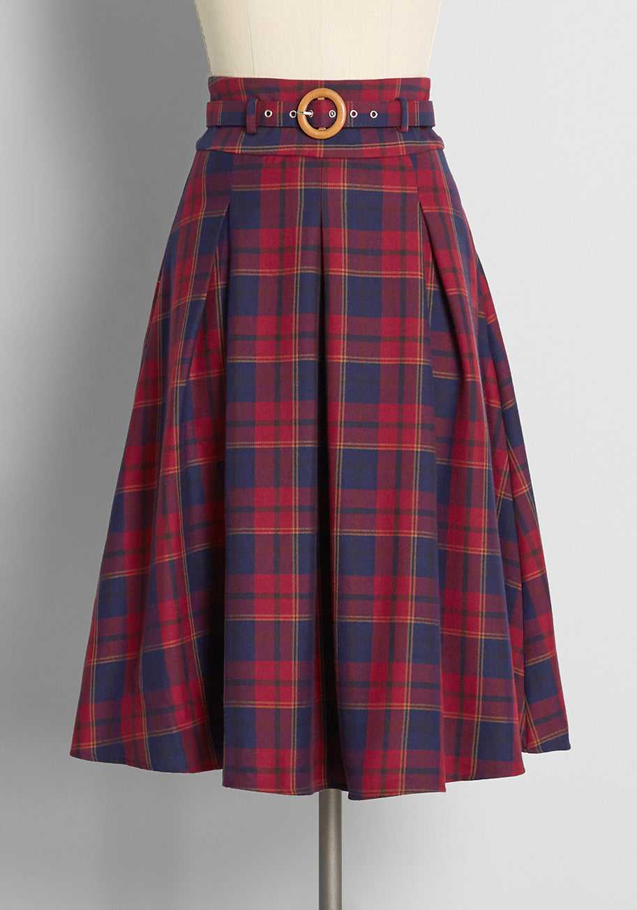Vintage Western Wear Clothing, Outfit Ideas ModCloth x Collectif As You Swish Swing Skirt in Red Size 30 $79.00 AT vintagedancer.com
