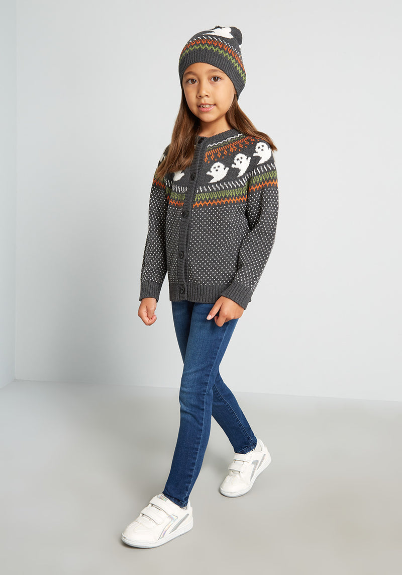 Kids You've Been Ghosted Fair Isle Halloween Sweater