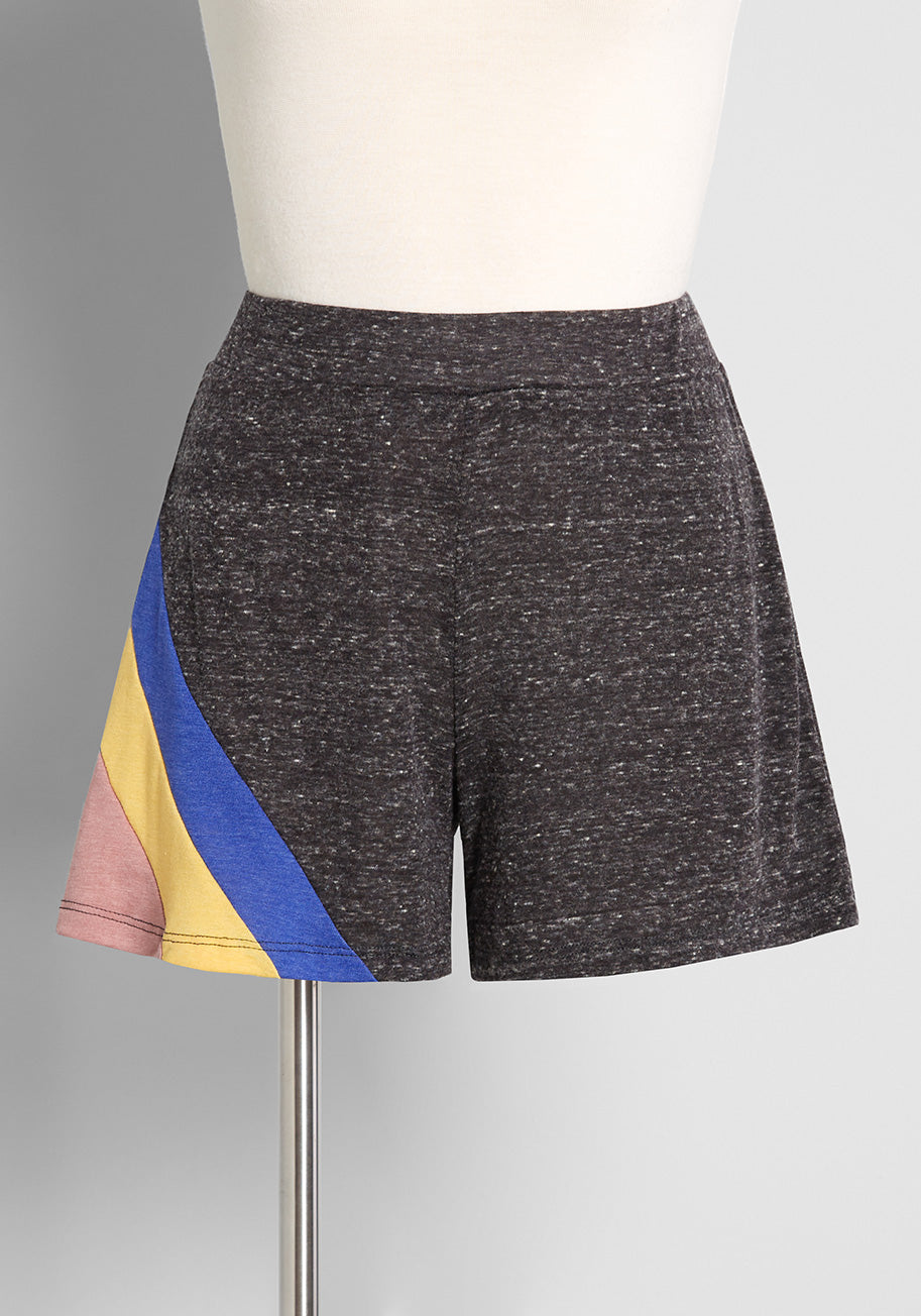 Vintage Workout Clothes – Retro Gym Clothes ModCloth x CAMP Collection Livin Easy Shorts in Grey Size 2X $45.00 AT vintagedancer.com