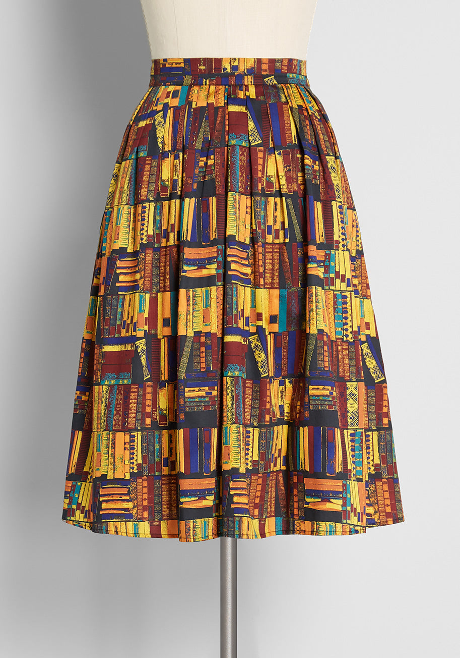 1950s Swing Skirt, Poodle Skirt, Pencil Skirts ModCloth Imagine the Possibilities Skirt Size 26 W $69.00 AT vintagedancer.com