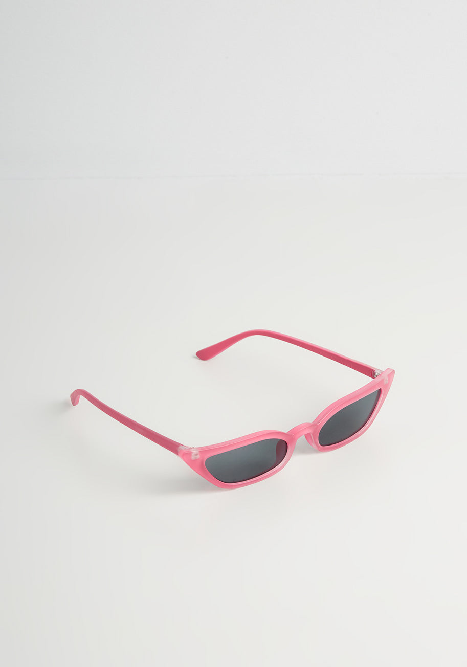 1960s Sunglasses   70s Sunglasses, 70s Glasses ModCloth A Dolls Eye View Sunglasses in Pink $19.00 AT vintagedancer.com