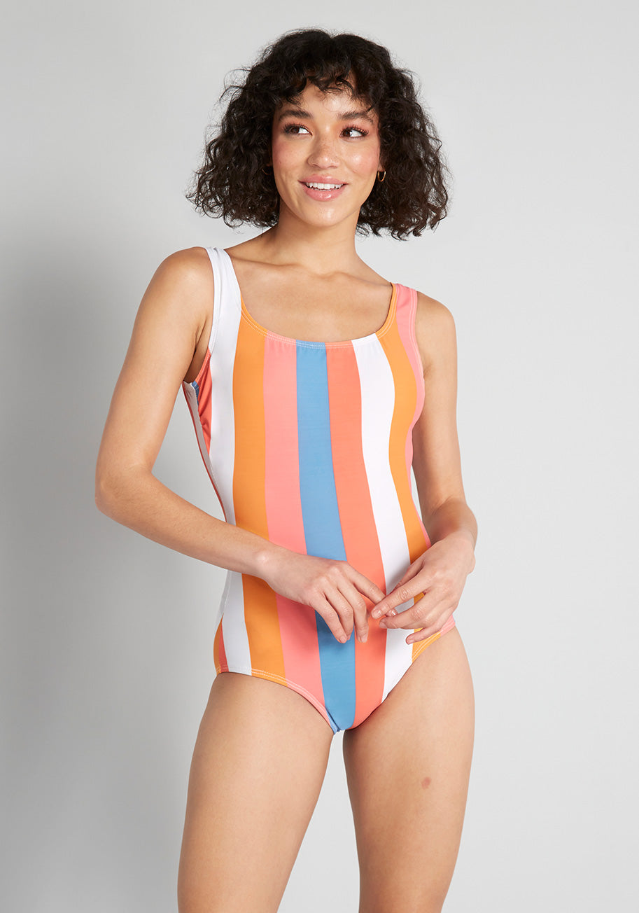 Esther Williams The Christie One-Piece Swimsuit in Sherbert
