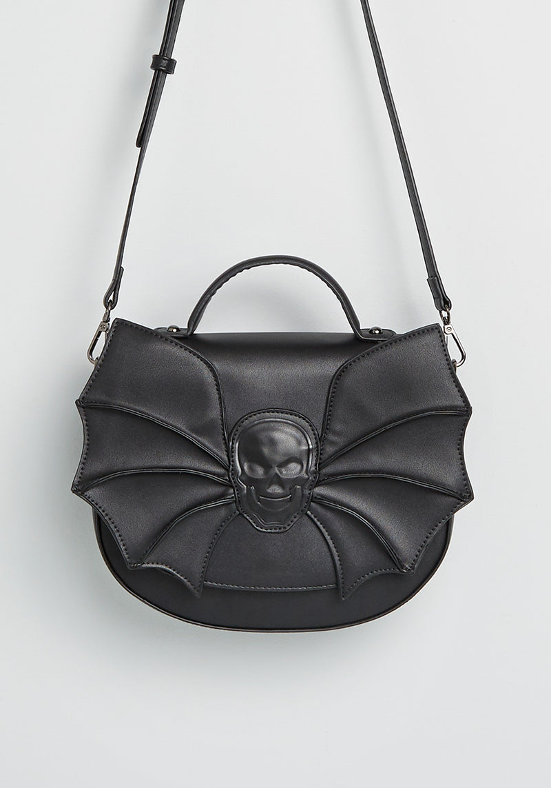 Banned Creature of the Night Skull Spider Crossbody Bag