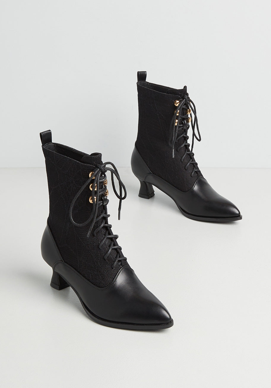 History of Victorian Boots & Shoes for Women Lulu Hun x Collectif Any Witch Way Boots in Black Size 8 $129.00 AT vintagedancer.com