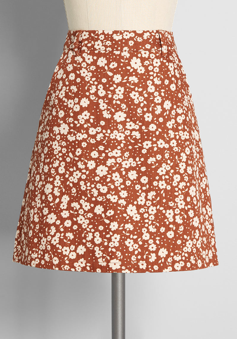 Princess Highway Ditsy Days in Daisies Mini Skirt