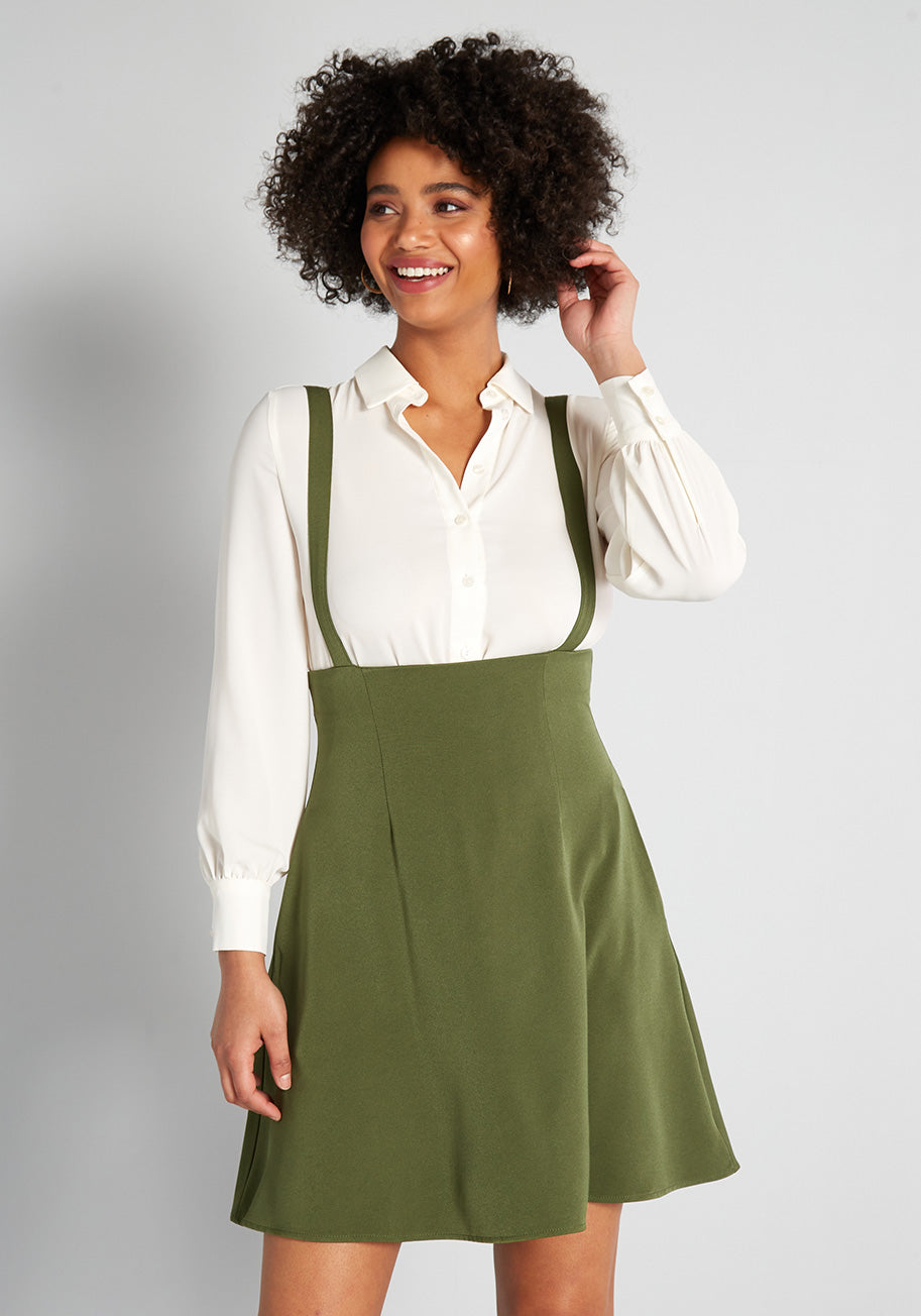80s Outfit Inspiration, Party Ideas ModCloth Overall Winner Jumper in Dark Green Size 4X $69.00 AT vintagedancer.com