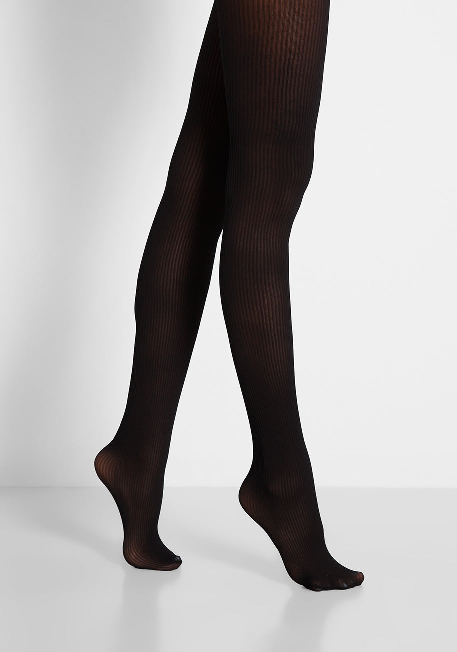 1960s – 1970s Lingerie & Nightgowns ModCloth A Leg Up in Luxe Tights in Black $19.00 AT vintagedancer.com