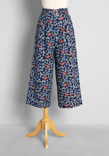 Boundless in Butterflies and Berries Wide-Leg Pants