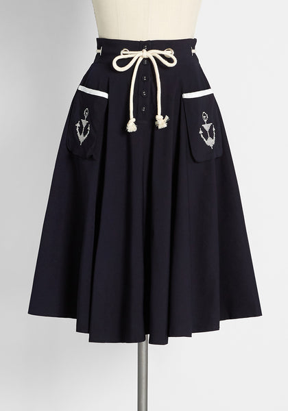 Only an Anchor Away Swing Skirt