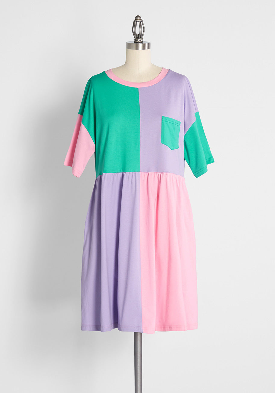 80s Dresses   Casual to Party Dresses Dangerfield New Kid on the Block Babydoll Dress Size Medium $59.00 AT vintagedancer.com