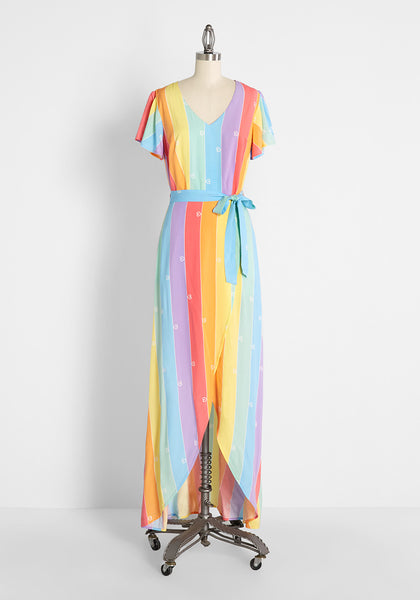 ModCloth x Collectif That Rainbow Loving Feeling Maxi Dress