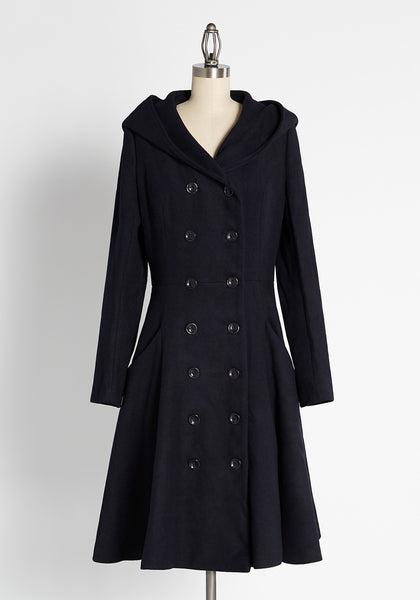 Hooded Up and Buttoned Down Coat