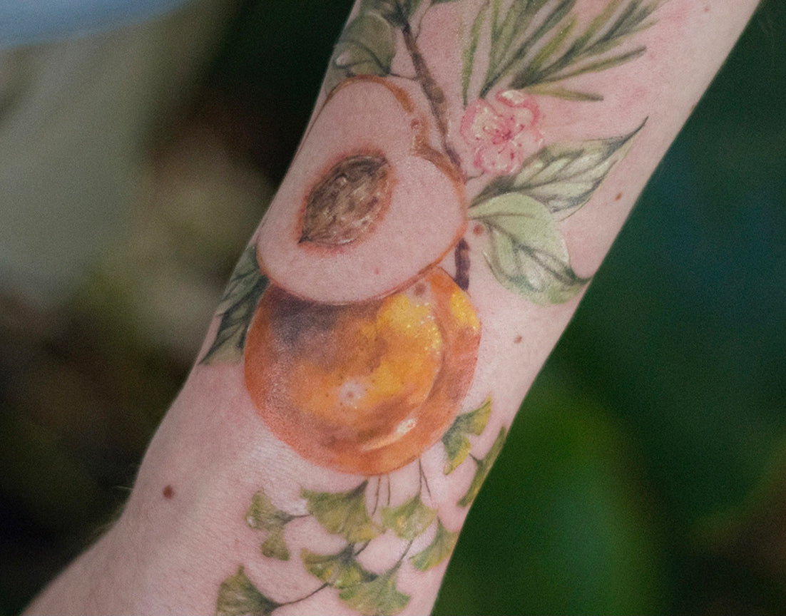 water color fruit tree tattoo