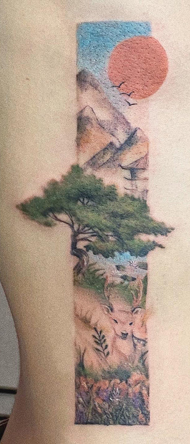 Japanese water color tattoo