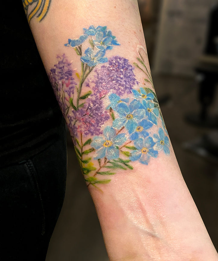 flower water color tattoo