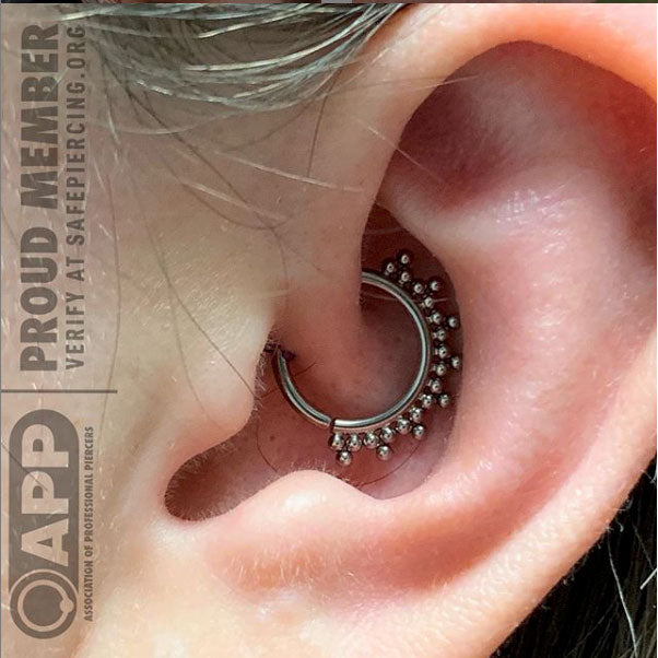 daith piercing with ring