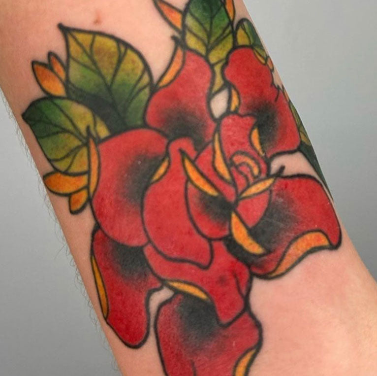 Neo traditional tattoo on hand