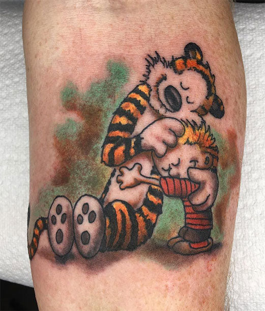 Calvin and hobs tattoo