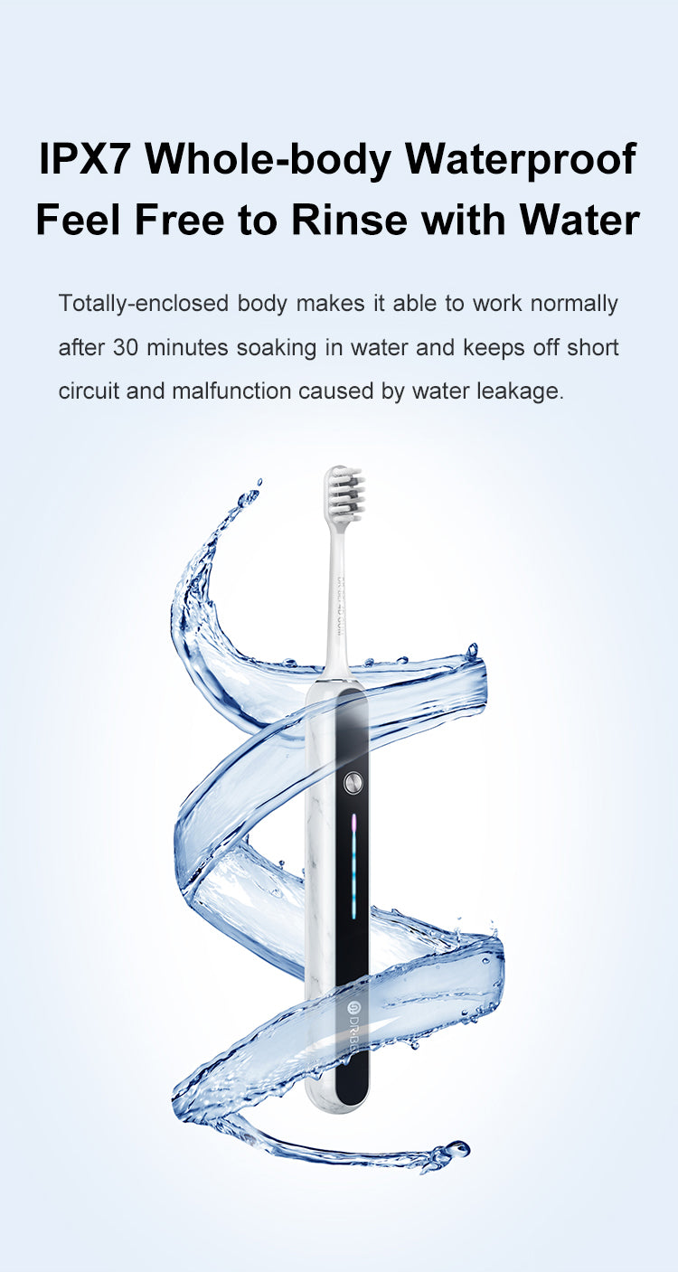 DR.BEI S7 Premium Sonic Electric Toothbrush  Xiaomi Youpin DR·BEI Electric Toothbrush S7 Rechargeable IPX7 Waterproof 2 Minutes Timer 2000mAh Battery 60 days Standby Tooth Brush Cleaner