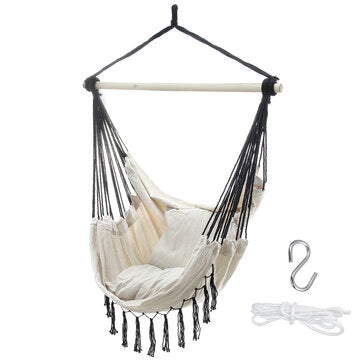39.4x51.2inch Hammock Chair Double People Hanging Swinging Garden Swinging Chair Camping Travel Beach