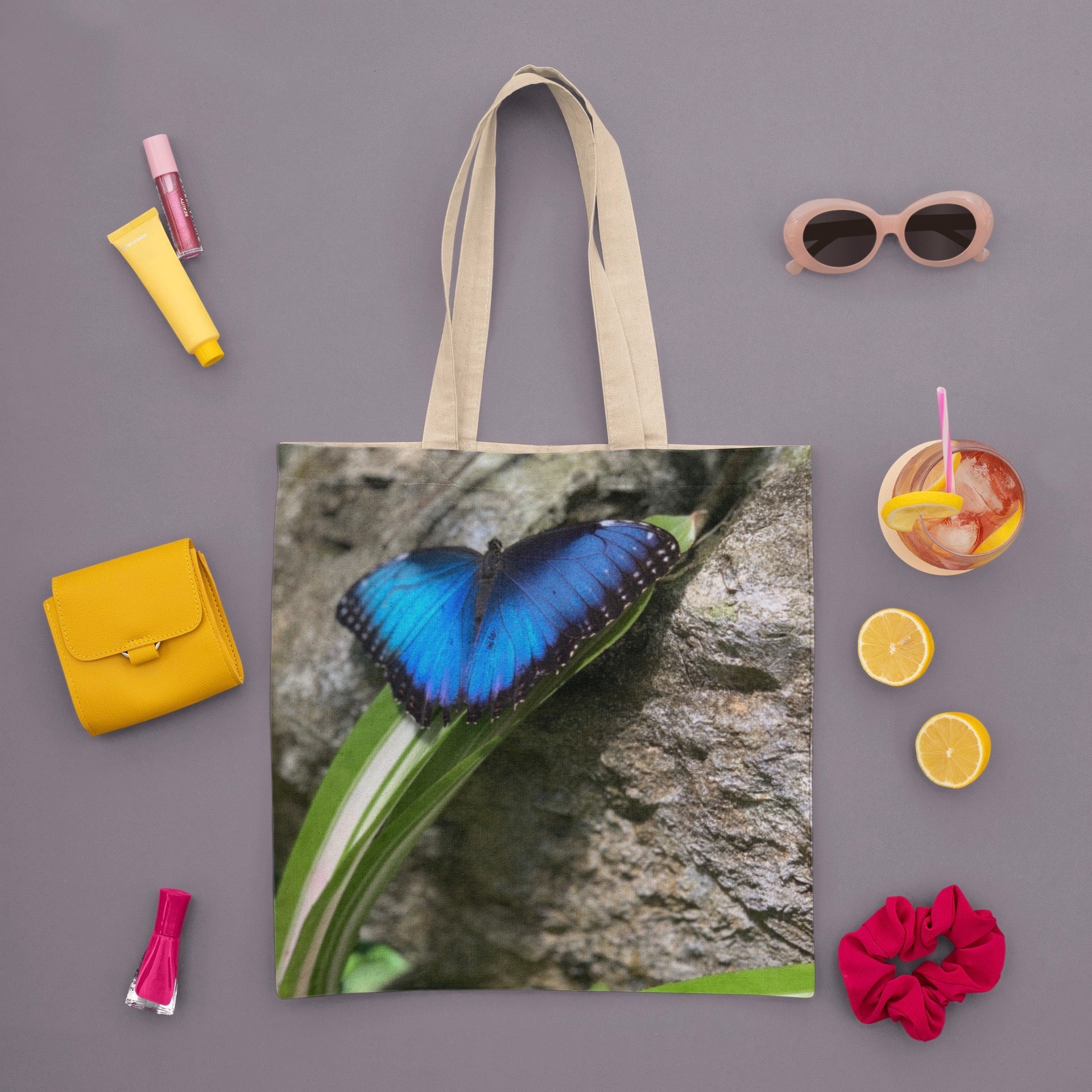 Beautiful Blue Butterfly  - Tote Bag