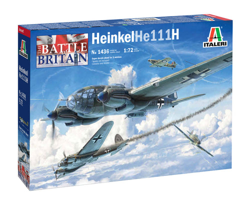 Italeri 1436 Heinkel He-111H-6 1:72 Battle Of Britain 80th Anniversary 1:72 Model Kit