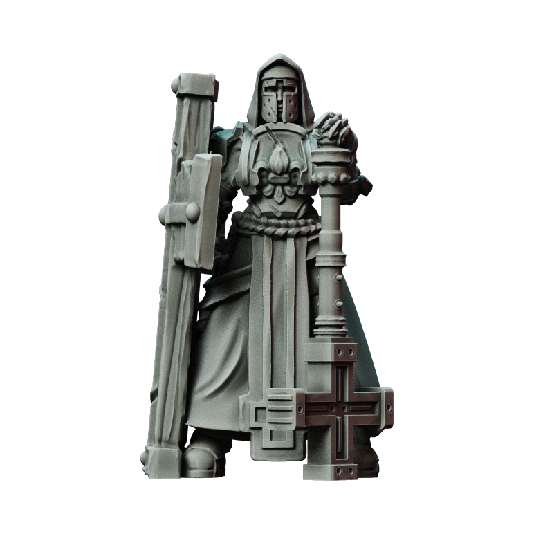 Printed Obsession Battle Nuns - Tower Shield 3D Printed Model