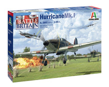 Load image into Gallery viewer, Italeri 2802 Hurricane Mk 1 Battle Of Britain 80th Anniversary 1:48 Model Kit