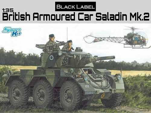 DRAGON 3554 British Armoured Car Saladin Mk.2 1:35 scale