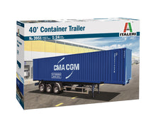 Load image into Gallery viewer, Italeri 3951 40' Container Trailer 1:24 Plastic Model Kit