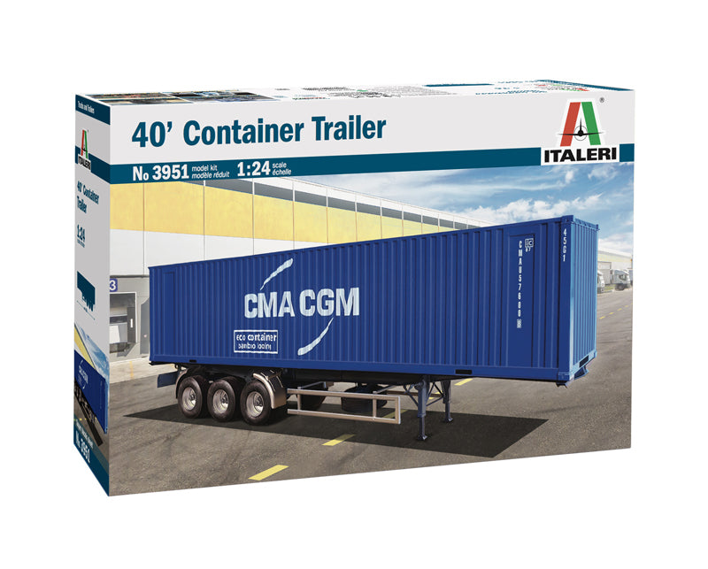 Italeri 3951 40' Container Trailer 1:24 Plastic Model Kit