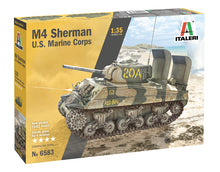 Load image into Gallery viewer, Italeri 6583 M4A2 Sherman U.S. Marine Corps 1:35 Plastic Model Kit